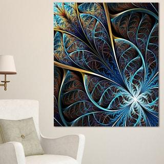 abstract brown fractal flower floral digital art canvas print