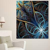 Abstract Brown Fractal Flower - Floral Digital Art Canvas Print