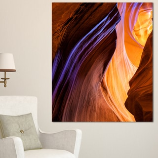 Blue Wall of Antelope Canyon - Landscape Photo Canvas Print