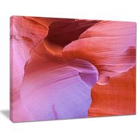 Antelope Canyon Landscape - Photography Canvas Art Print - Brown