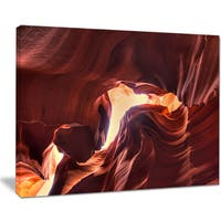 Stone Structures In Lower Antelope Canyon - Photo Canvas Print
