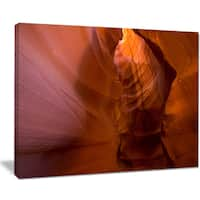 Antelope Canyon Crack - Landscape Photo Canvas Print - YELLOW