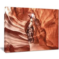 Antelope Canyon High Structures - Landscape Photo Canvas Print