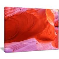 Antelope Canyon Cave Inside - Landscape Photo Canvas Print - Orange