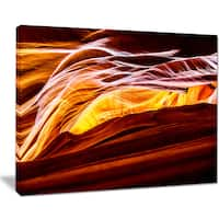Yellow in Antelope Canyon - Landscape Photo Canvas Art Print
