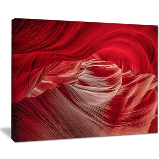 Red Shade in Antelope Canyon - Landscape Photo Canvas Print