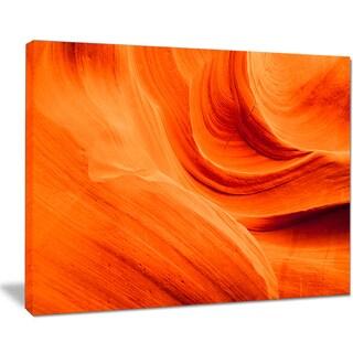 Orange Upper Antelope Canyon - Landscape Photo Canvas Print