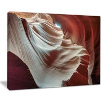 Antelope Canyons Hollow - Landscape Photo Canvas Art Print - Brown