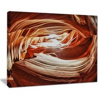 Antelope Canyon Arch - Landscape Photo Canvas Art Print - YELLOW