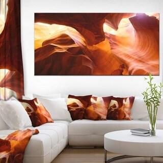 Yellow Antelope Canyon - Landscape Photo Canvas Art Print