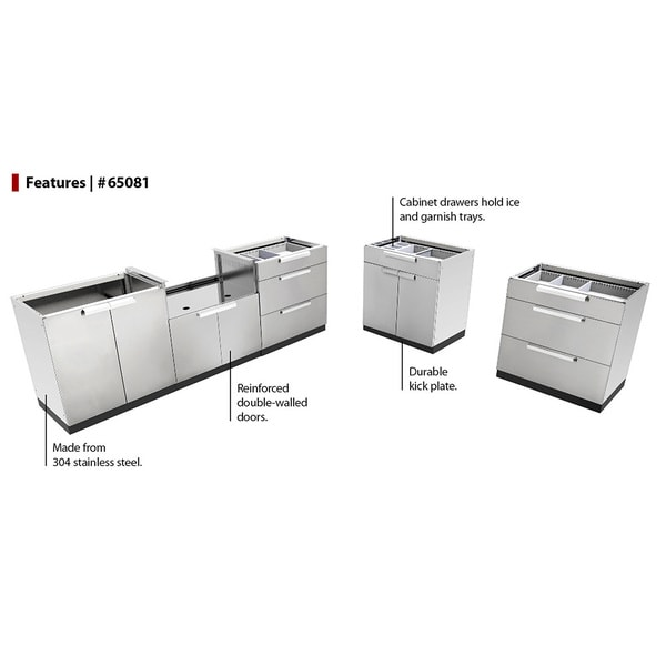 Wonderful NewAge Products Stainless Steel Outdoor Kitchen Cabinets   Free Shipping  Today   Overstock.com   18985147
