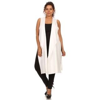 Hadari Plus size long line vest