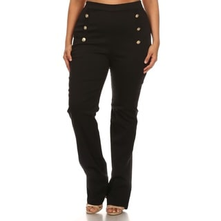 Hadari Plus size flare high waist pants