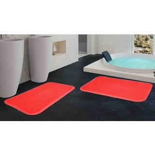 Ultra Soft Lightweight Memory Foam Comfort Bath Mat (Set of 2)