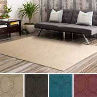 Hand Loomed Nuys Wool Area Rug (8' x 10') - 8' x 10'