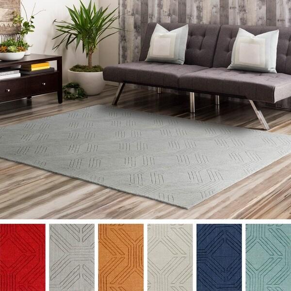 Hand Loomed Oaks Wool Area Rug - 8' x 10'