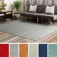 Hand Loomed Oaks Wool Area Rug - 5' x 7'6