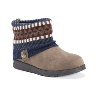 MUK LUKS Women's Paola Multicolored Polyester Ankle Boots