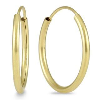 Marquee Jewels 14k Yellow Gold 18-millimeter Hoop Earrings
