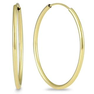 Marquee Jewels 14k Yellow Gold 25-millimeter Hoop Earrings