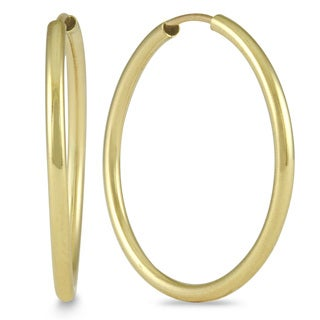 Marquee Jewels 14k Yellow Gold 21-millimeter Hoop Earrings