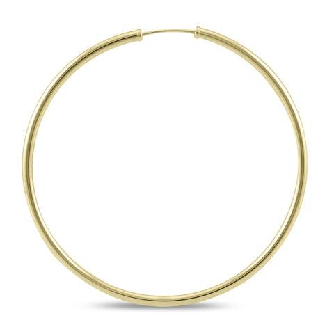 Marquee Jewels 14k Yellow Gold 50-millimeter Endless Hoop Earrings