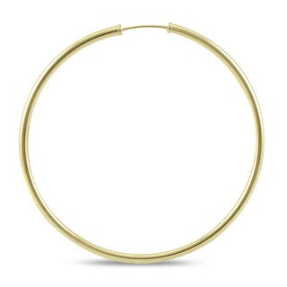 Marquee Jewels 14k Yellow Gold 50-millimeter Endless Hoop Earrings