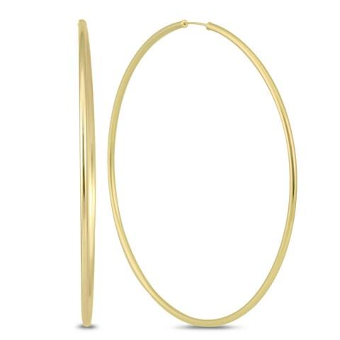 Marquee Jewels 14k Yellow Gold 80-millimeter Endless Hoop Earrings