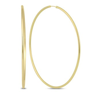 Marquee Jewels 14k Yellow Gold 80-millimeter Endless Hoop Earrings