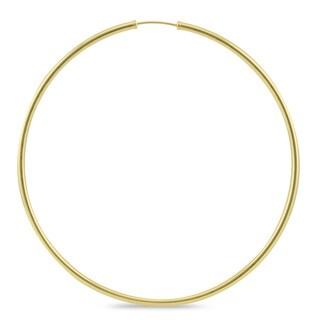 Marquee Jewels 14k Yellow Gold 70-millimeter Endless Hoop Earrings