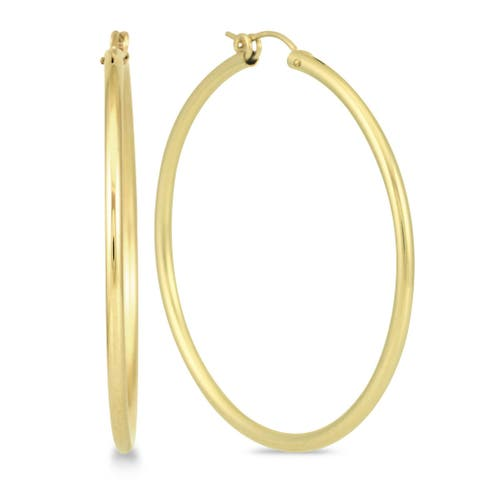 Marquee Jewels 14k Yellow Gold Filled 50-millimeter Hoop Earrings