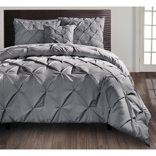 VCNY Carmen Pintuck 4-piece King Size Comforter Set in Navy (As Is Item)
