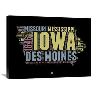 Naxart Studio 'Iowa Word Cloud 1' Stretched Canvas Wall Art