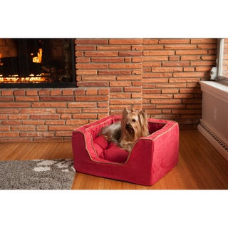 Snoozer Luxury Multicolored Microfiber Square Dog Bed