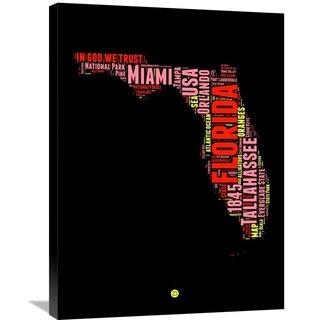 Naxart Studio 'Florida Word Cloud 1' Stretched Canvas Wall Art