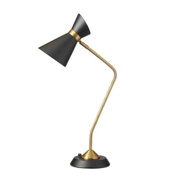 Dainolite 1-light Table Lamp with Black Shade
