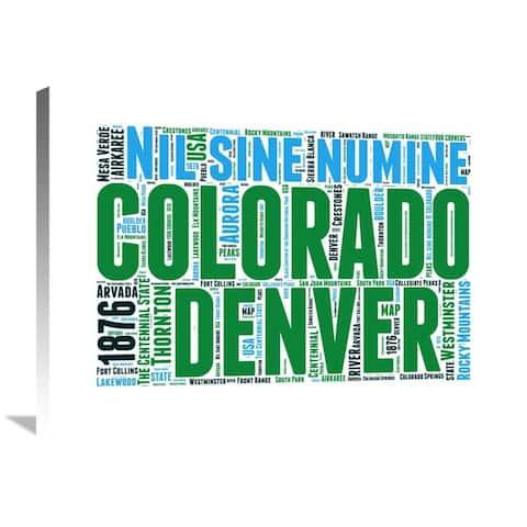 Naxart Studio 'Colorado Word Cloud Map' Stretched Canvas Wall Art