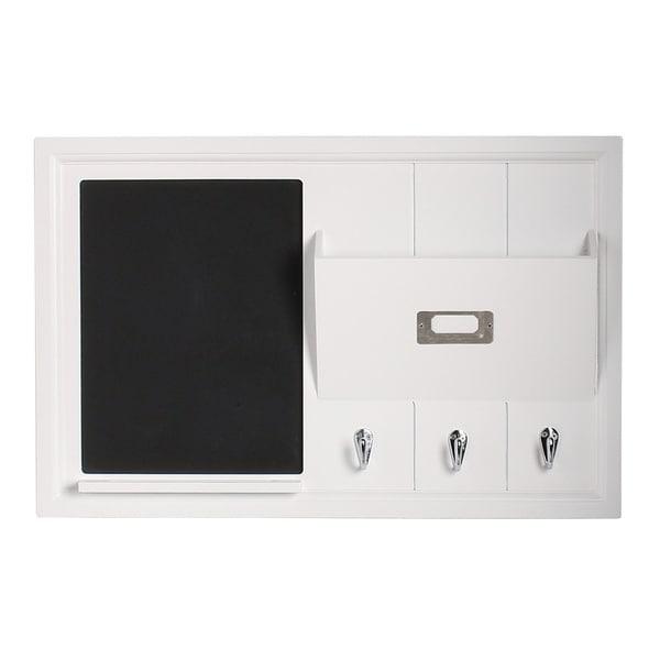 Shop Designovation Dagny White Wood Home Organizer with Chalkboard ...