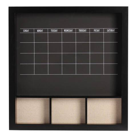 Davina Decorative Wood Wall Weekly Chalkboard Calendar