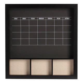 Davina Decorative Wood Wall Weekly Chalkboard Calendar