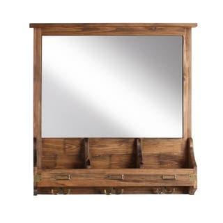 Stallard Decorative Rustic Wood Home Organizer and Hooks (Option: Brown)|https://ak1.ostkcdn.com/images/products/12127582/P18985580.jpg?impolicy=medium
