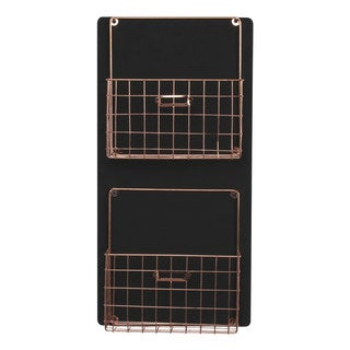 Dinah Decorative Wall Chalkboard With Two Metal Baskets