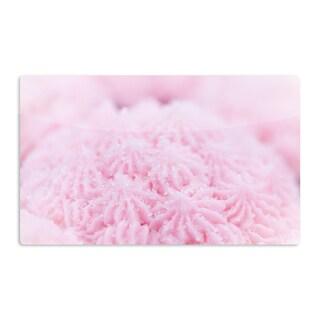 KESS InHouse Debbra Obertanec 'Cupcake Pink' Sparkle Artistic Aluminum Magnet