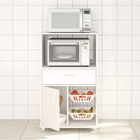 Boahaus White MDF Kitchen Storage Cabinet