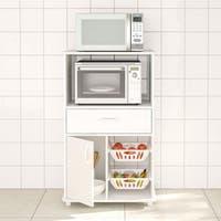 Boahaus White MDF Kitchen Storage Cabinet