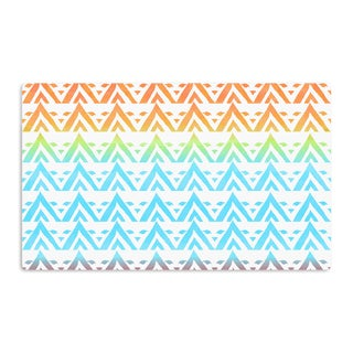 KESS InHouse Frederic Levy-Hadida 'Antilops Pattern' Multicolor Chevron Artistic Aluminum Magnet