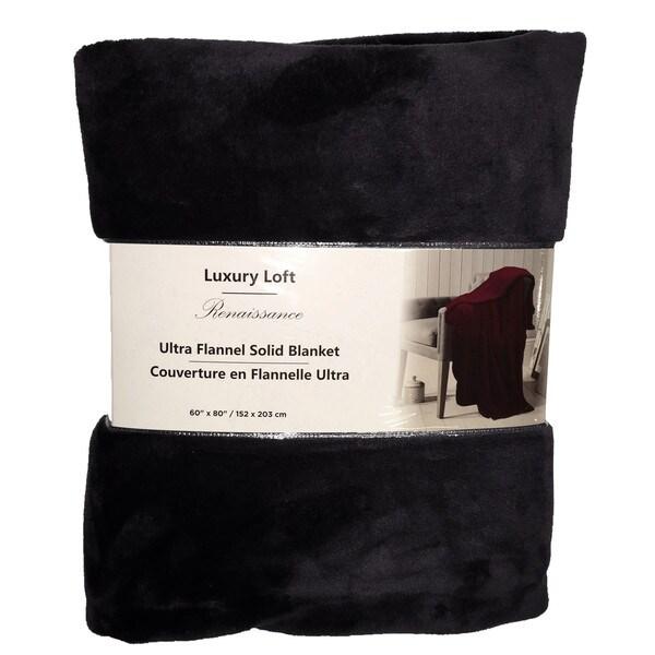 Ultra Flannel Throw Blanket - Black