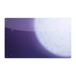 KESS InHouse Fotios Pavlopoulos 'Full Moon' Night Sky Artistic Aluminum Magnet