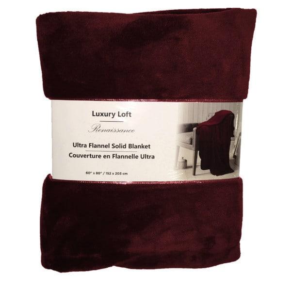 Ultra Flannel Throw Blanket - Brick