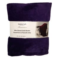 Ultra Flannel Throw Blanket - Mauve